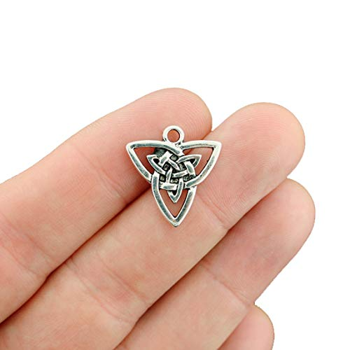 8 Celtic Knot Charms Antique Silver Tone Triquetra Trinity Knot - SC2560