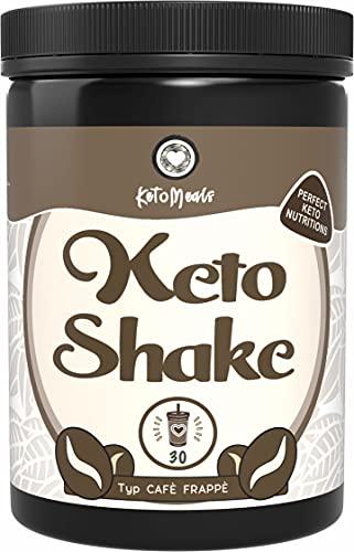 KetoMeals Keto Shake Café Frappé 2.0 (30 porzioni), caffè chetogeno senza zucchero, dieta chetogenica, alimentazione a basso contenuto di carbone, 450 g di polvere