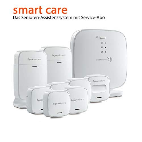 Gigaset - Alarma para Personas Mayores (Sistema de notificación Inteligente con sensores, Seguridad para Las 24 Horas, Smart Care Funciona Solo con una suscripción de Servicio)