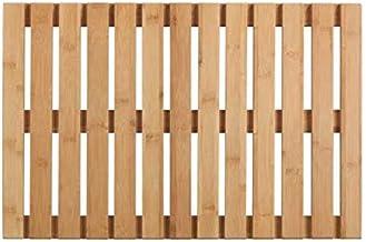 WENKO Rejilla para bañera Indoor & Outdoor Bambú - Alfombra de baño, rejilla para ducha, baño, piscina, sauna con parte inferior antideslizante, Bambú, 40 x 60 cm, natural