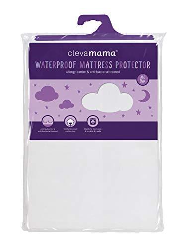 Clevamama Matratzenschoner Wasserdicht und Atmungsaktiv - Baumwolle Matratzenschutz für Kinderbett 140x70 cm