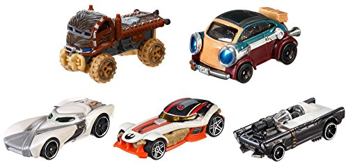 Hot Wheels Mattel DJP17 - Verkehrsmodelle, Star Wars Helden des Widerstands 5-er Pack
