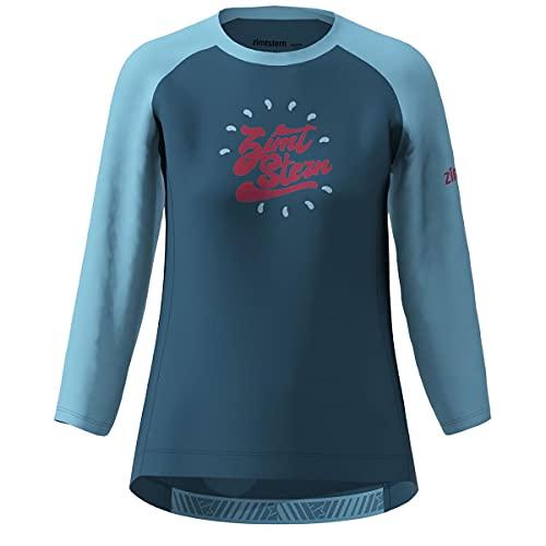 Zimtstern Girls MTB Jersey ¾-Arm PureFlowz Blau Gr. L