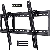 Tilting TV Wall Mount Bracket Low Profile for Most 37-70 Inch Flat Curved Screen LED LCD OLED TVs Tilted Mount Max VESA 600x400mm Holds up to 132lbs by ERGO-INNOVATE