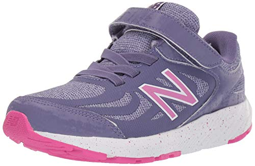 New Balance Kid's 519 V1 Alternative Closure Running Shoe, Violet Fluorite/Clear Amethyst/Carnival, 5 W US Big Kid