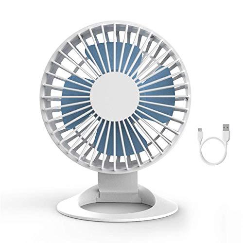 Acondicionador de aire DKEE Escritorio del USB del ventilador, mini portátil personal ventilador de refrigeración con un fuerte flujo de aire, la velocidad del viento 3, Whisper Quiet, ángulo ajustabl