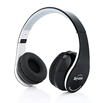 Beyution Over Ear Wireless Cellphone Headset Bluetooth Version 4.1 Stereo HiFi Sound Quality Wired Headphones with 3.5mm Audio Cable Connection for PC Tablet Laptop Smartphones  BT513-BK