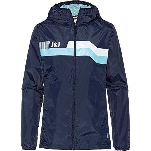 JACK & JONES Herren Jacke Jcostone Jacket Hood, Blau (Maritime Blue), Large (Herstellergröße: L)
