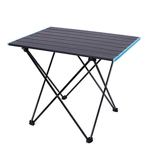 Mesa De Camping 56x40.5x46.5cm Mesa Plegable PortáTil Mesa Plegable De Aluminio Multifuncional Simple para Barbacoa De Picnic Al Aire Libre (Negro)