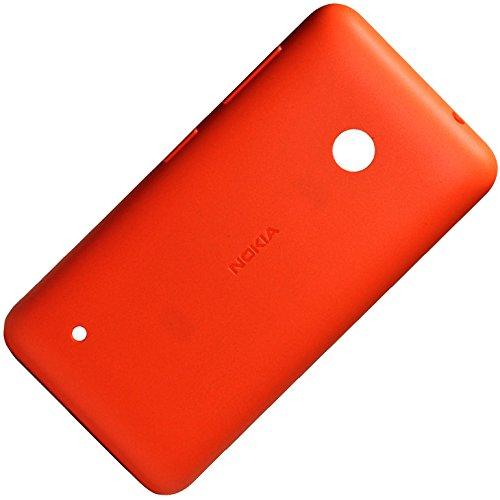 Original Akkudeckel orange für Nokia Lumia 530 und 530 Dual Sim inklusive Ein/Aus und Laut/Leise Taste