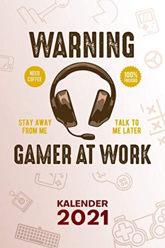 KALENDER 2021 A5: für Nerd - Videospiele Terminplaner mit DATUM - Gaming Organizer für Termine - Wochenplaner von Januar bis Dezember - 1 Woche auf 2 Seiten mit Kalenderwoche