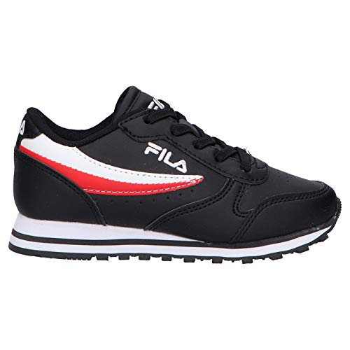 Fila Sportschuhe für Junge und Mädchen 1010783 13S Orbit Black White RED Schuhgröße 32 EU