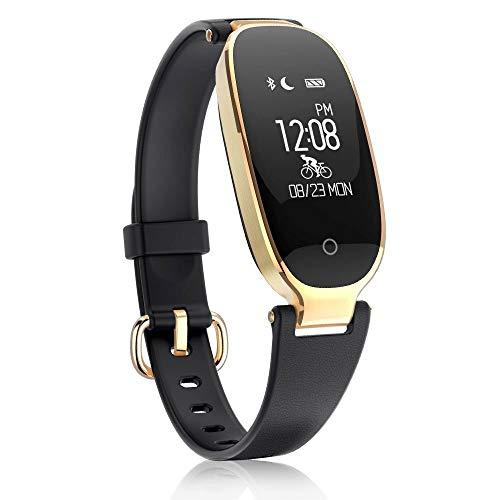 Mmhot-sb Fitness Tracker, Wasserdichtes Smart Calorie Pedometer Uhr Activity Tracker Herzfrequenz-Blutdruckmessgerät (Farbe : B)