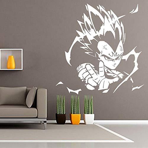 wZUN Anime japonés Pegatinas de Pared decoración de la habitación de los niños de Dibujos Animados Dragon Ball calcomanías decoración del Dormitorio del bebé animación de jardín de Infantes 42X42cm