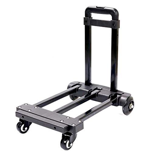 JCX Hochleistungsklappkarren, 4-Rad-Fahrgestell mit Fester Konstruktion und erweiterbarem Fahrgestell Kompakt und leicht für Gepäck, Privat-, Auto-, Umzugs- und Bürozwecke