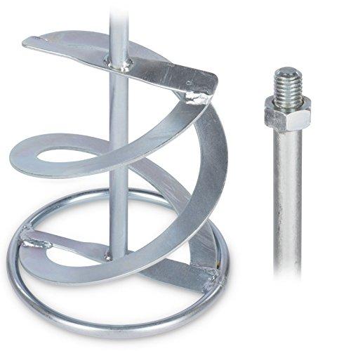 Rührer Rührquirl für Rührwerk - stabil galvanisiert langlebig - Durchmesser 140 mm Länge 600 mm Gewinde M14 Galvanisiert/Verzinkt. Mischwirkung von unten nach oben Mischmenge ca. 20-40 kg