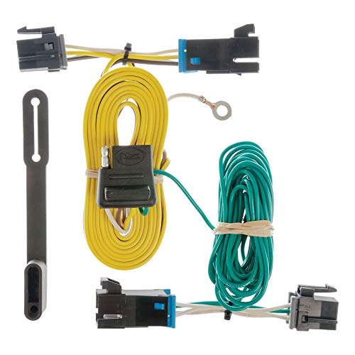 CURT 55540 Vehicle-Side Custom 4-Pin Trailer Wiring Harness, Select Chevrolet Express, GMC Savana 1500, 2500, 3500, 4500