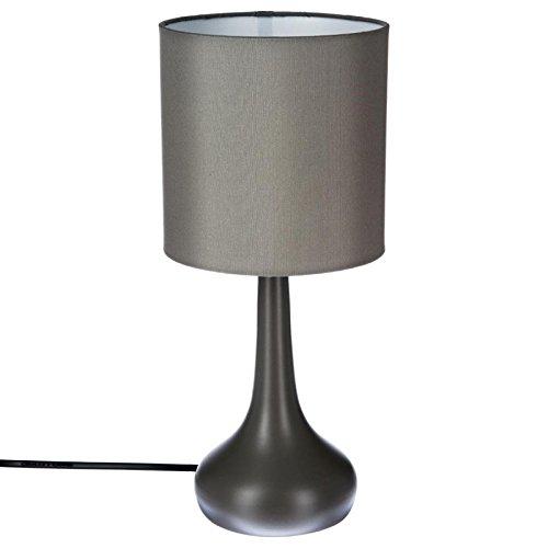 Paris Prix Atmosphera Créateur d'intérieur - Lampe à Poser Métal Touch 33cm Gris