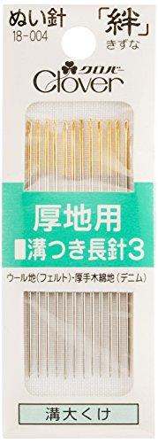 Clover 絆 きずな 厚地用 溝つき長3 M3 No.3 12本