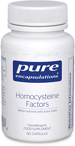 Pure Encapsulations - Homocysteine Factors - Hypoallergenic L-5-MTHF Supplement - Vitamin B6, B12, Natural Folate and Betaine - 60 Capsules