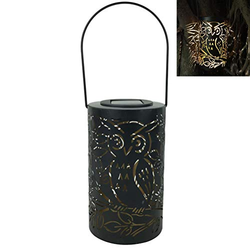 Einsgut Linterna Solar para Exteriores LED jardín Colgante jardín Linterna linternas Decorativas Impermeable IP44 con sensibilidad a la luz