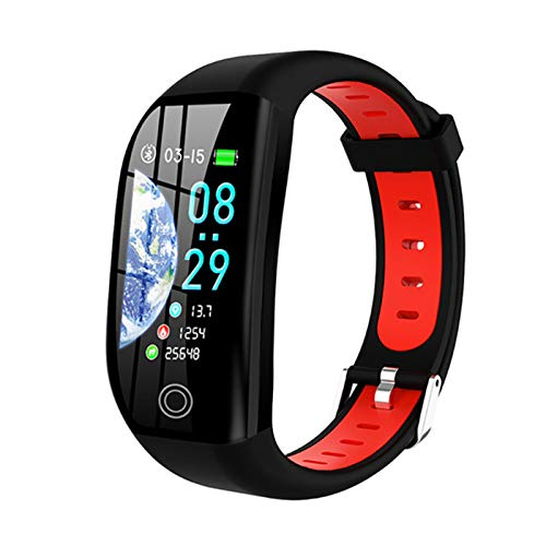 ZGNB 1.14 Pulgadas F21 Pulsera Inteligente GPS Connection Activity Tracker Sports Impermeable Presión Arterial Reloj Monitoreo del Sueño Monitoreo Inteligente Pulsera Inteligente (para Android iOS),B
