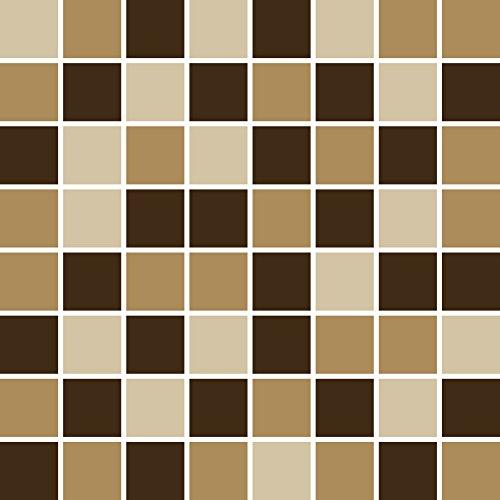 PrintYourHome Fliesenaufkleber für Küche und Bad | Mosaik Erde matt | Fliesenfolie für 20x20cm Fliesen | 24 Stück | Klebefliesen günstig in 1A Qualität