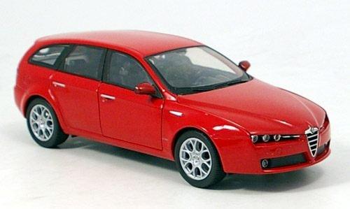 Alfa Romeo 159 Sportwagon, rot, Modellauto, Fertigmodell, Welly 1:24