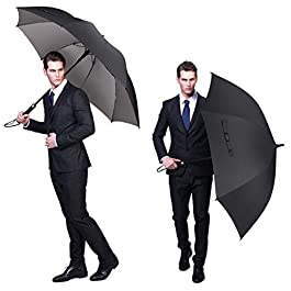 G4Free Windproof UV Protection Golf Umbrella Silver Coated Large...