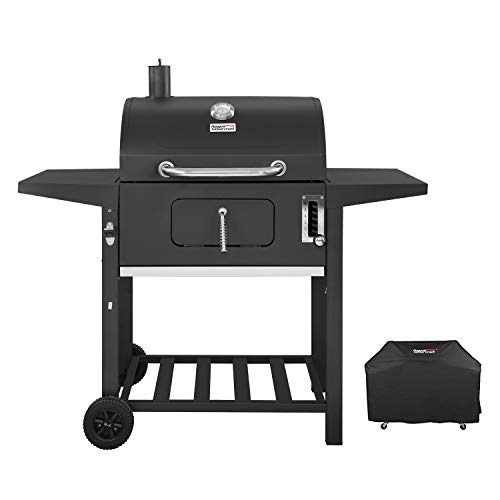Royal Gourmet CD1824AC 24 Inch Charcoal Grill BBQ Outdoor Picnic, Patio Backyard Cooking, with...