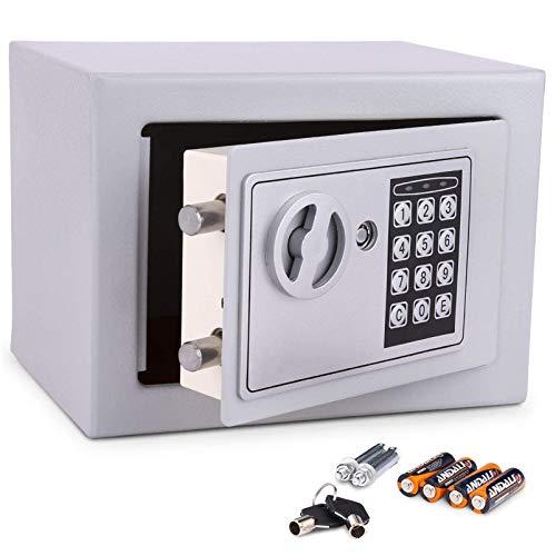 Meykey Caja Fuerte Electrónica Caja Seguridad 230X170X170 mm,...