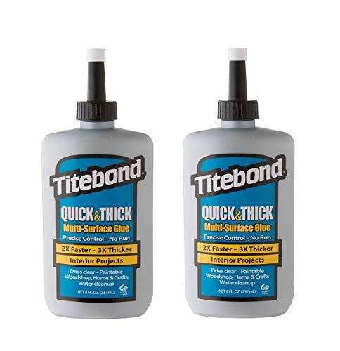 Titebond Quick & Thick Multi-Surface Glue (2-Pack), 8 oz