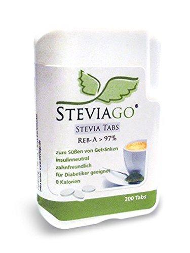 STEVIAGO Stevia Tabs (Reb-A 97%) im praktischen Tabspender (200 Tabs)