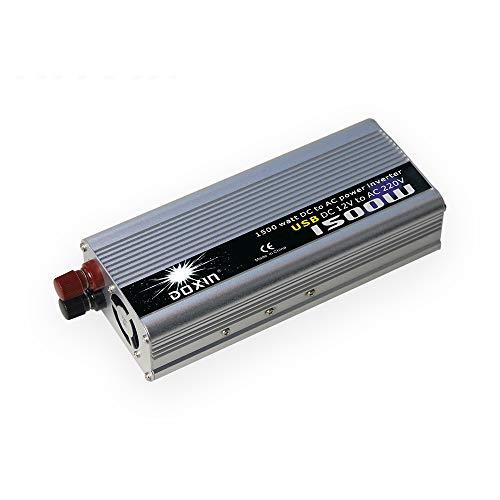 Omvormer auto USB-aansluiting 1500 watt DC 12 V tot 220 V universeel stopcontact thuis buiten