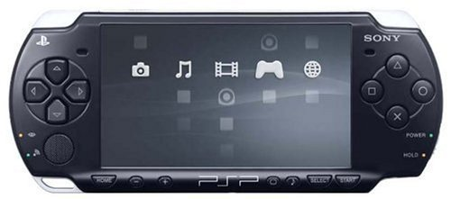 Sony Playstation Portable (PSP) 2000 Series Handheld Gaming Console System (Renewed) (Black)