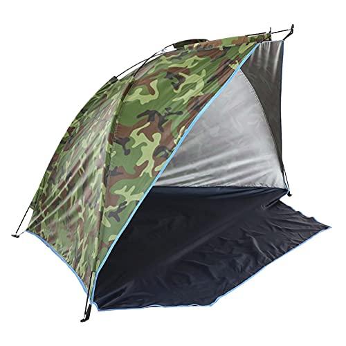 XIYIN Strandzelt Tragbares Sonnenschirm Reisezelt, Einfache Einrichtung Angeln Sonnendach Zelt Für Outdoor, UV Wasserdichtes Winddichtes Campingzelt, Leichte Familien Cabana Für Camping, Picknick