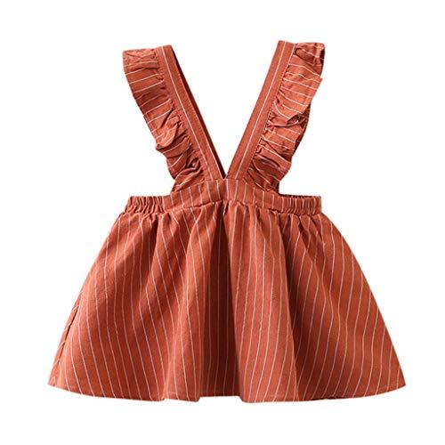 YWLINK MäDchen Kleidung Strap Kleid ÄRmellos Klassisch Süß RüSchen Streifen Party Prinzessin...