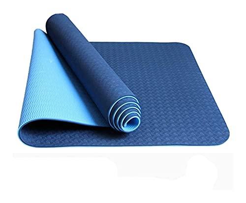LSLS Esterilla De Yoga Principiante 8mm Colinas de Yoga de Color Antideslizante Doble Capa de Dos Tonos alfombras Deportivas de Dos Tonos Pilates y colchonetas Esterilla Fitness