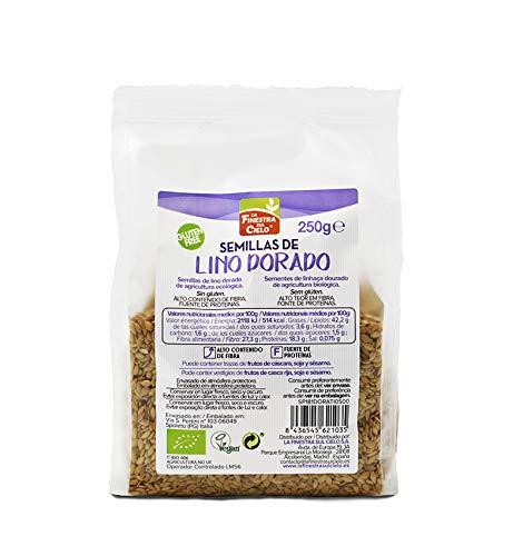 Semillas de lino dorado pulido bio gluten free - La Finestra