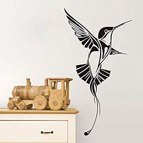 JXAA Creatieve vogel kanarie gesneden zelfklevende verwijderbare muurstickers 44x80cm
