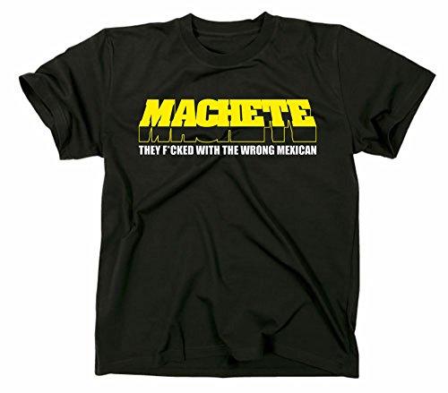Machete Kult T-Shirt Planet Terror Grindhouse, Rodriguez Tarantino schwarz XL