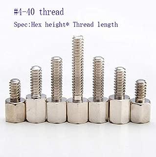 Ochoos 4#-40 UNC Thread Brass Spacer Copper Female to Female Thread Connector Nut Hex Standoff Spacer Video COM RS232 DB VGA Screw - (Dimensions: 5x6 Screw)