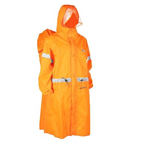 TRIWONDER Rucksack Plane Regen Abdeckung Regenmantel Poncho Regen Cape für Outdoor Wandern Reisen Camping (Orange, S)