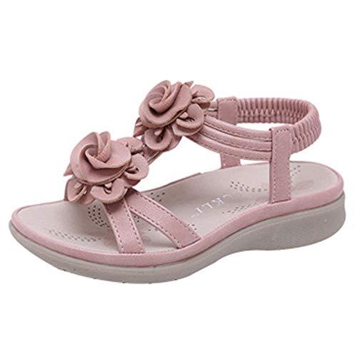AIWUHE Baby Schuhe Sandalen Mädchen Laufenschuhe Sommer Prinzessin Schuhe mit weichen Sohlen Kinderschuhe mit Blumen