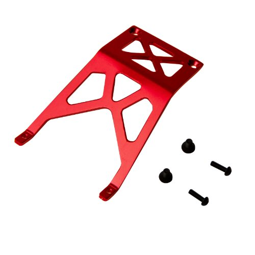 Atomik RC Alloy Front Skid Plate, Red fits The 1/10 Stampede and Other Models - Replaces Part 3623