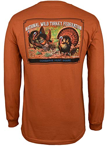 National Wild Turkey Federation Men's Grounded Long Sleeve Tee Shirt Small
