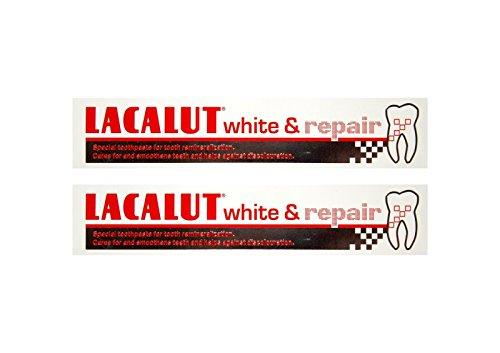 2x LACALUT white & repair Zahncreme 75 ml PZN: 04387912 Spezialzahncreme Zahnpasta