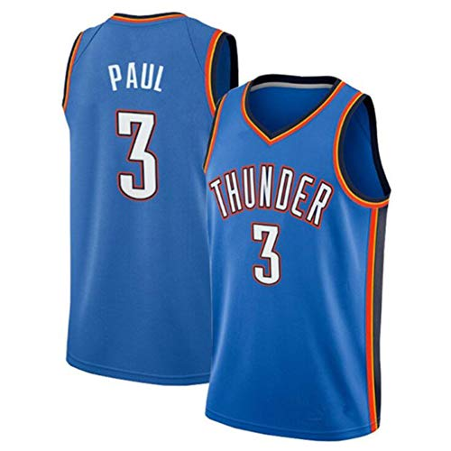Z/A Basketball Jersey -OKC NO.3 Chris Paul Jersey, Basketball Training, Anti-Falten, Basketball-Spiel-Uniformen, Geschenk für Fans,L