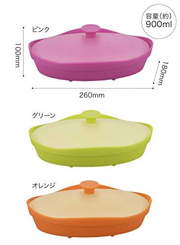 シービージャパンシリコンスチーマーピンクオーバル型電子レンジ調理fleur