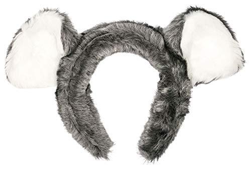 Wildlife Tree Plush Koala Bear Ears Headband Accessory for Koala Costume, Cosplay, Pretend Animal Play or Safari Party Costumes